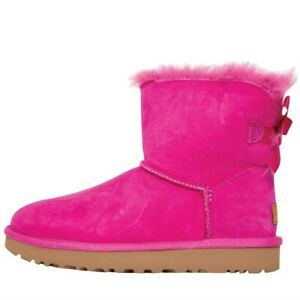 UGG Womens Mini Bailey Bow II Boots modern and warm for your cold day pink
