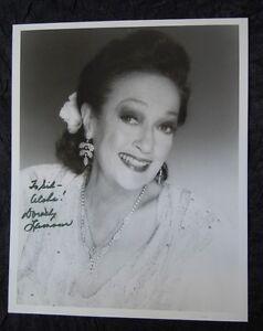 DOROTHY LAMOUR Signed Autographed Portrait Photo