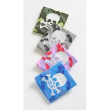 Unisex Novelty Pirate Camouflage Skull & Crossbones Wristband Sweatband