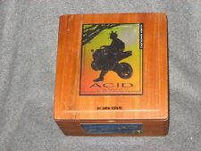 Drew Estate Acid Empty Wooden Cigar Box with wood hinge