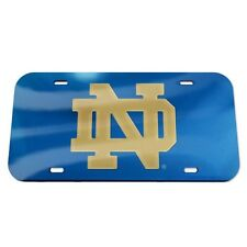 Notre Dame Mirrored License Plate ND