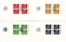 Schweden Bl. 2-5 FDC, Briefmarken-Ausstellung 1974
