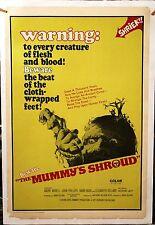 THE MUMMY'S SHROUD 1967 ORIGINAL linen Mounted 27X41 HORROR  poster A MORELL