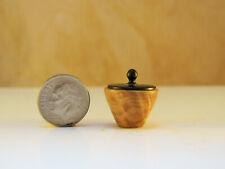 Hw miniature turning almond burl lidded hollow vase l