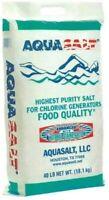 Aquasalt High Purity Salt For Swimming Pool Salt Chlorine Generators 40lbs. Bag