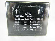POTENTIAL RELAY 69 CONTINUOUS COIL VOLT=336, PICK UP MIN=180 MAX=195