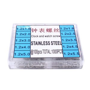 1 Box 1000 Tiny Micro Screws Nut Watch Glasses Eyeglass Repair Tool Watchmakers