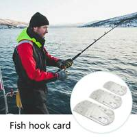 Fishing Hook Card Kit Hunting Camping Survival Outdoor Tackle Gear Tools