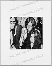 8x10 Print Beatles John Lennon Yoki Ono Candid Signatures are Printed #B27
