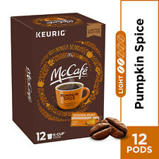McCafe Pumpkin Spice Coffee 12 K-Cup Pods 100% Arabica Limited Edition New