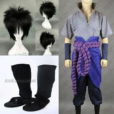 Naruto Shippuden Uchiha Sasuke Cosplay Costume Full Set