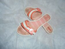 LACOSTE WOMEN'S SALMON LEATHER SLIP ON SANDAL SIZE UK 5 EU 38 VGC