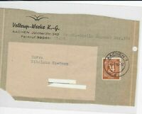 German Postal History Stamps Cover Ref: R4608