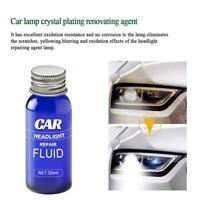 Car Headlight Lens Restoration Plastic Light Polishing Cleaner System R1V5
