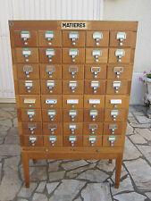 Meuble de métier , notaire , administration, 40 tiroirs