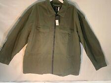 Men's Big & Tall Full Zip Jacket - Original Use Paris Green M TALL