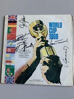 5x Autogramm Geoff Hurst ,Uwe Seeler Hans Tilkowski etc.signed LP WM WC 1966 DFB