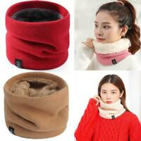 Women's Knitted Scarf  Winter Warm Snood Ladies Neck Ring Scarves