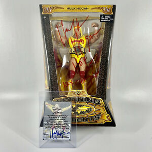 Hulk Hogan Defining Moments Toy Figure Signed Autographed With COA