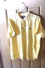 Ralph Lauren Chaps Mens Polo Rugby Golf Shirt Pale Yellow XL