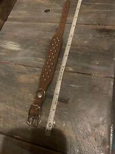 "Studded Dog Collar Hand Made In USA Small 8.5-11.5"" Adjustable Pleather Metal"
