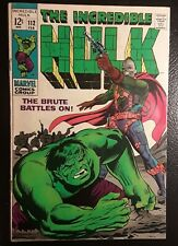 HULK #112 VF+ WHITE pgs! Death of the Galaxy Master! ORIGINAL OWNER! GORGEOUS!
