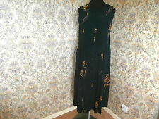 Black floral dress by TOGETHER Size 14 Goldy brown floral