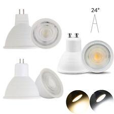LED Spotlight GU10 MR16 GU5.3 7W AC 110V 220V COB Chip Beam Angle 24 Light Bulb