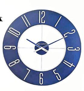 "NEW  BULOVA LARGE WALL CLOCK 27"" IN DIAMETER-  C4809"