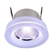 Faretto incasso cromoterapia LED RGB 8W vetro cristallo 24V sincronizzabile LED
