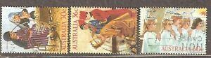 Australia: full set of 3 used stamps, Christmas, 1986, Mi#1005-1007