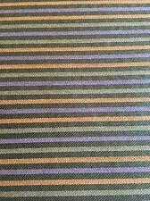 Upholstery Crypton Fabric 3.8 Yds Orange Purple Green Striped