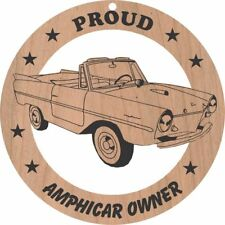 Amphicar Wood Ornament Engraved