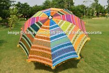 "72"" Inch Indian Kutch Embroidery Wedding Garden Umbrella Large Patio Parasols"