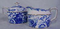 Royal Crown Derby Mikado Blue & White Porcelain China Creamer Sugar Bowl English