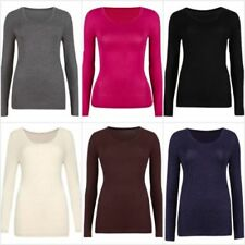 Thermal Hip Length Scoop Neck Tops & Shirts for Women