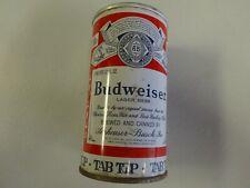Vintage1960's Budweiser Beer Tab Top Steel Can