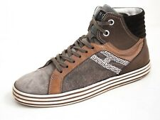 Hogan High Top Sneakers Trainer Gray Suede Mens Shoe Size US 8.5 EU 41.5 $480
