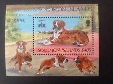 Solomon Islands 1994 Year of Dog overprint Jakarta 95 SG MS791 MNH