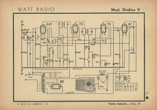 Radioricevitore Watt Radio Mod. Ondina V Radio Industria Milano 1942