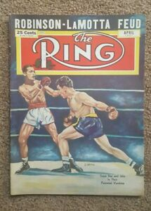 Lot of 30 The Ring 1950's Boxing Magazines. Nice.