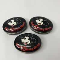Vtg Walt Disney WORLD Collector Mickey Mouse Candy/Mint/Pin Tin Small Set Of 3