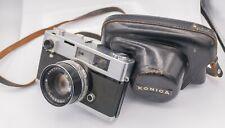 Konica Auto S 35mm Film Rangefinder Camera w/ Hexanon 47mm F1.9 Prime Lens