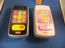 LOT OF 2 Fisher-Price Laugh & Learn Smilin' SMART CELL PHONE Musical TOY