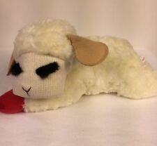 "New listing Aurora Plush Lamb Chop Soft Stuffed Animal Sheep 13"" Laying Down Toy Lovey"
