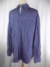 Nordstrom Men's Button Front L/S Shirt XL Blue Red Purple Green Stripe