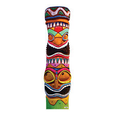 TIKI GODS Colorful Polynesian Totem Pole CARDBOARD CUTOUT Standup Standee Poster