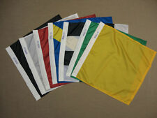 Official Auto Racing Un-Mounted Nylon Seven Flag Set Start Checker Yellow 2'x2'