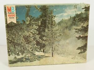 Milton Bradley Super Challenge Series 1500 Pc Puzzle Sun Valley Idaho 1977