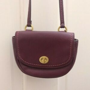 Coach Halfmoon Mini Crossbody Bag Maroon